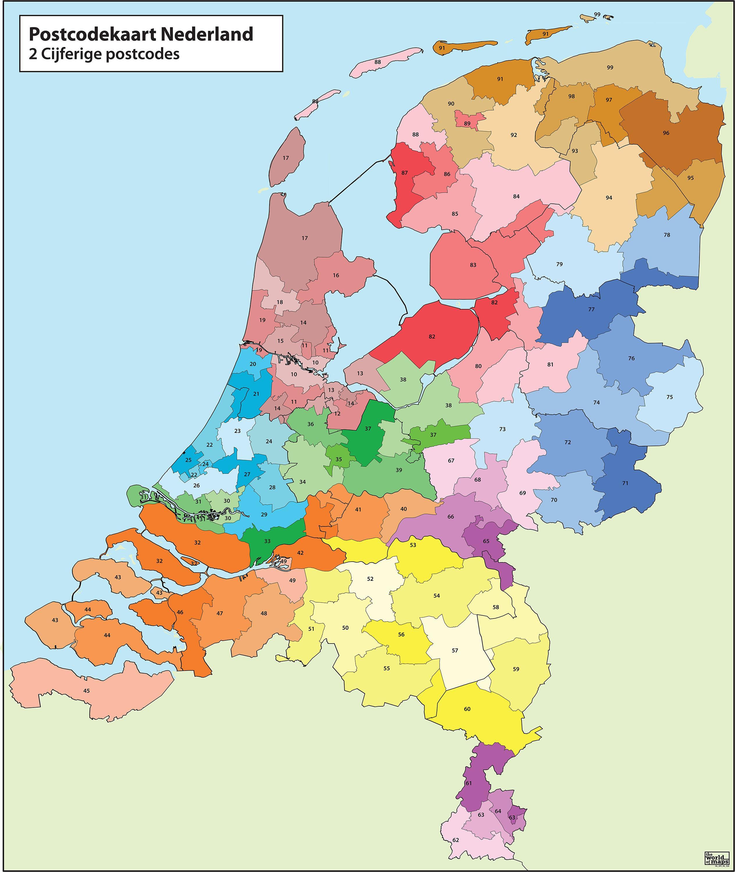 Karte Plz.Niederlande Plz Karte Karte Von Niederlande Postleitzahl Western