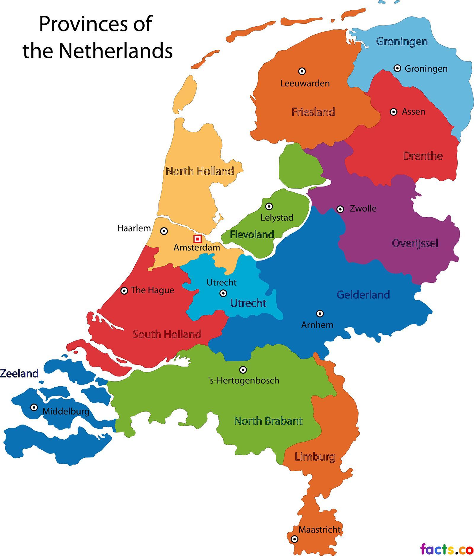Holland Niederlande Karte