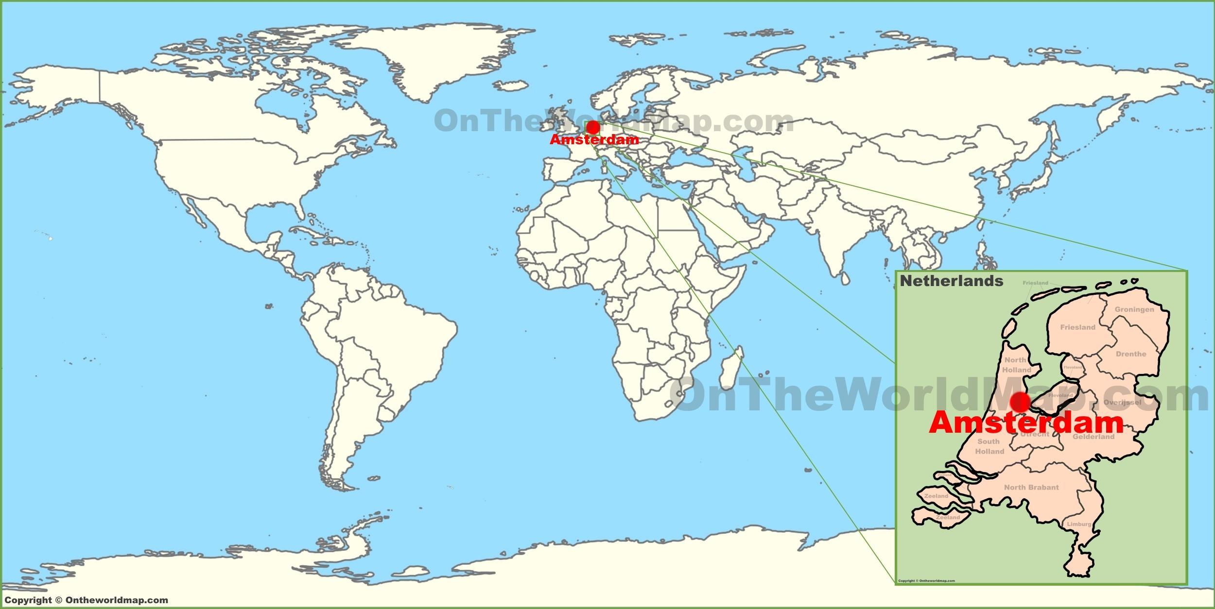 Niederlande Karte Welt.Niederlande Weltkarte Die Niederlande In Welt Karte