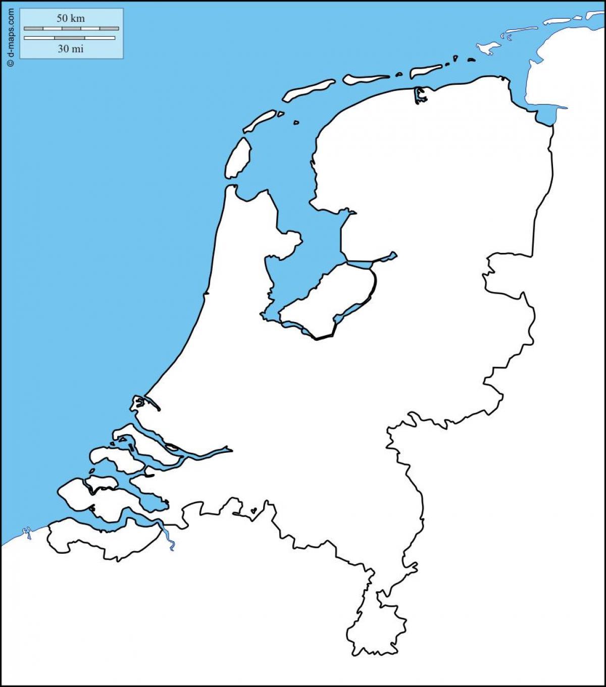 Niederlande Karte Umriss.Holland Karte Umriss Holland Leere Karte Western Europe Europe