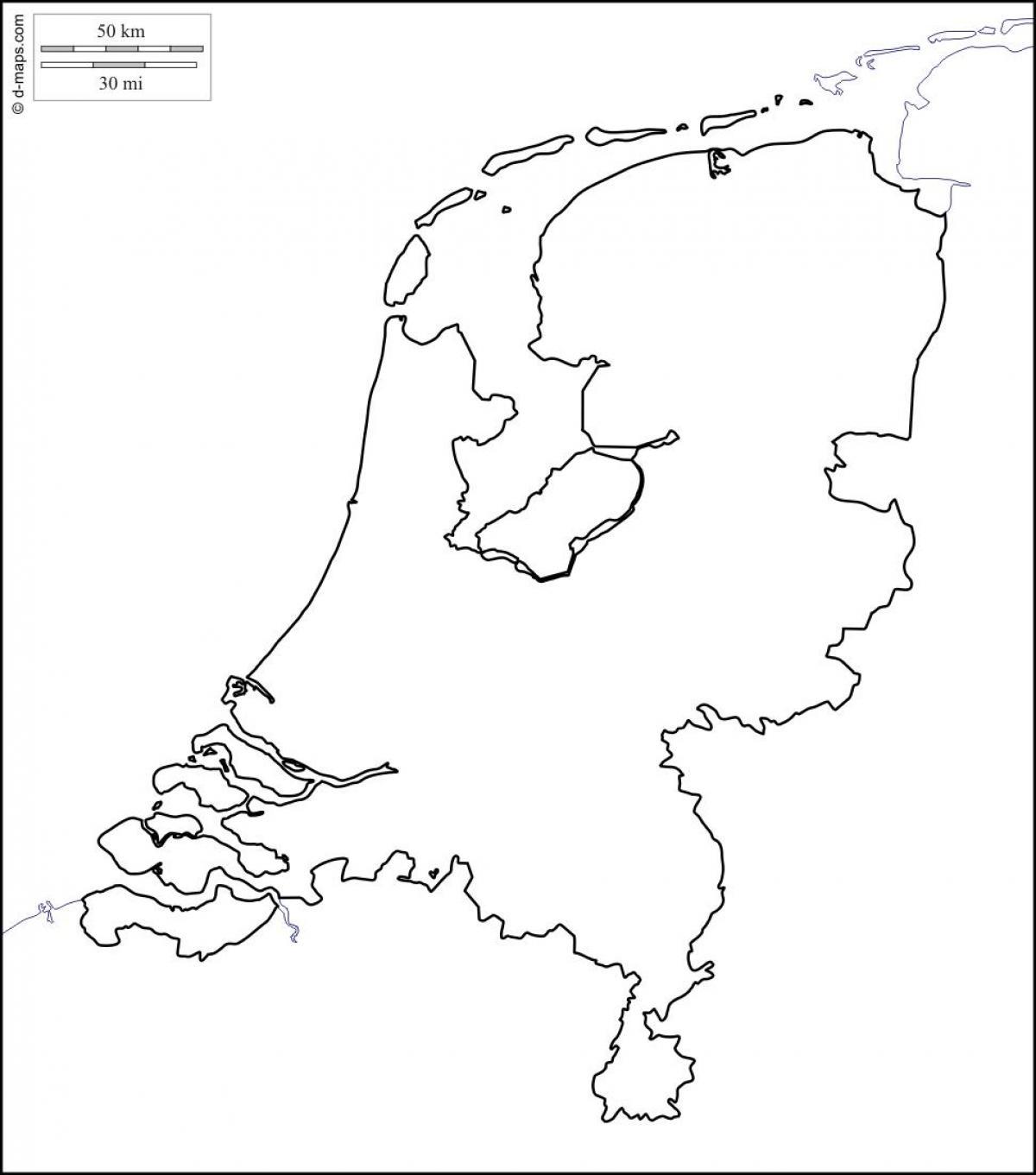 Niederlande Karte Umriss.Niederlande Karte Umriss Umriss Karte Der Niederlande